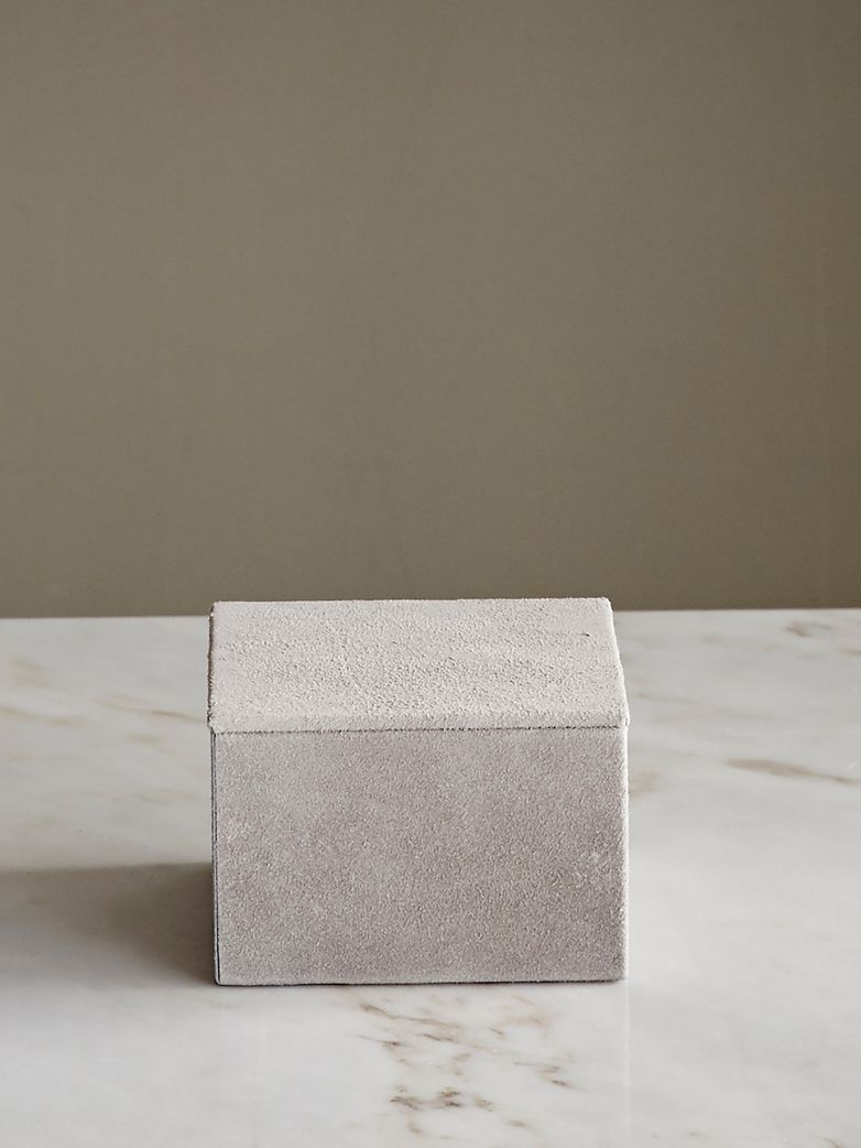 Small Suede Box Nude