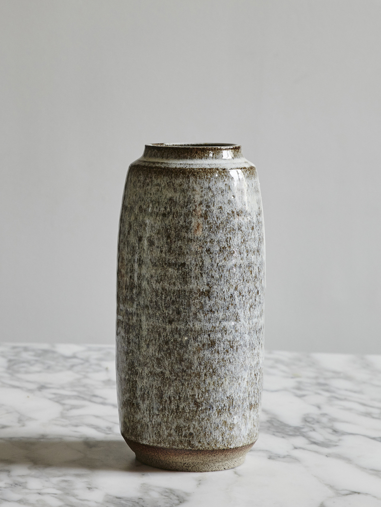 Timbre Vase Large Shiny Ash Tall