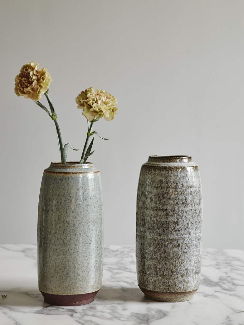 Timbre Vase Large Shiny Ash Tall