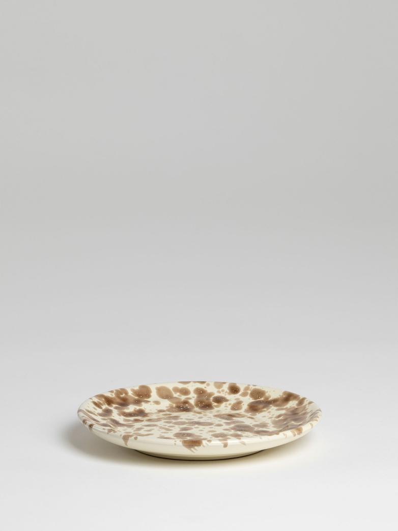 Spruzzi Vivente - Plate 18,5 cm - Brown on Creme