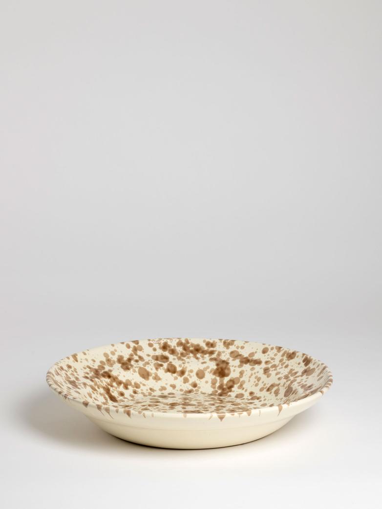 Spruzzi Vivente - Medium Serving Bowl - Brown on Creme