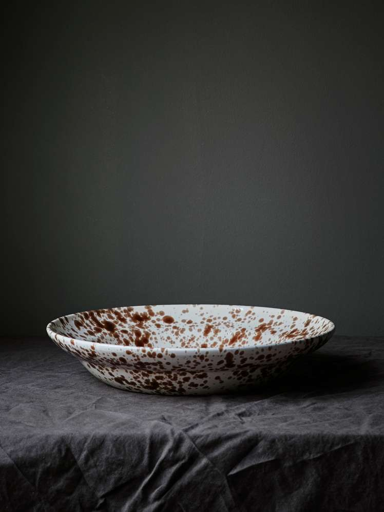 Spruzzi Vivente - Serving Bowl Brown - Large