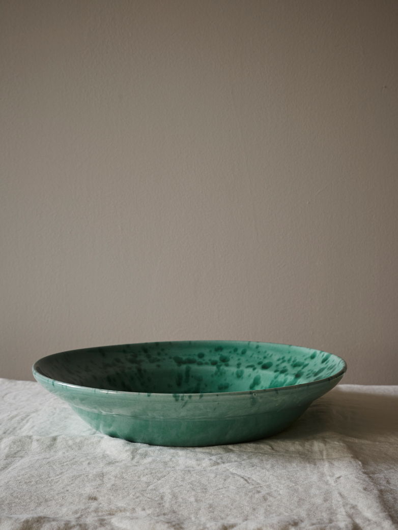 Spruzzi Vivente - Big Serving Bowl - Green