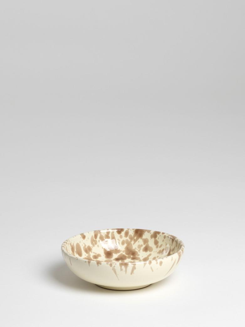 Spruzzi Vivente - Bowl Brown on Creme - Small