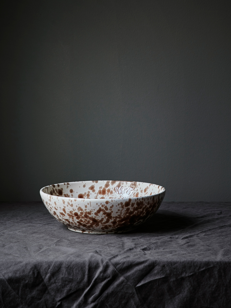 Spruzzi Vivente - Splatter Bowl - Brown on Creme