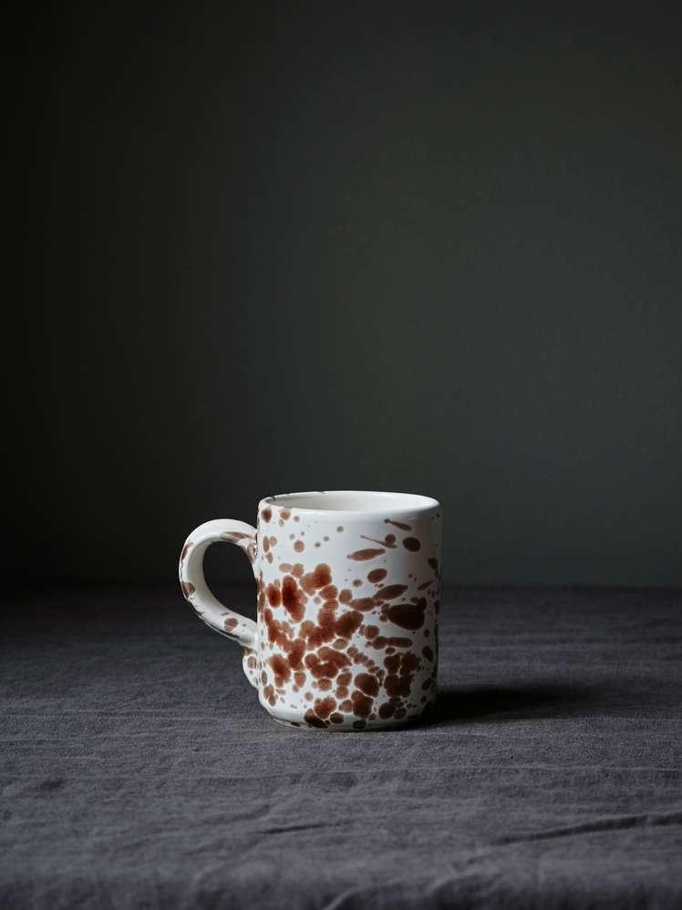 Spruzzi Vivente - Mug with Handle - Brown