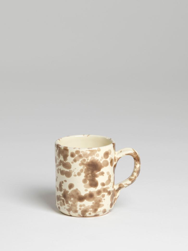 Spruzzi Vivente - Mug with Handle - Brown on Creme