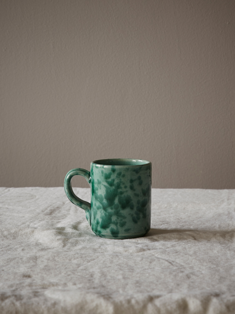 Spruzzi Vivente - Mug with Handle - Green on Green