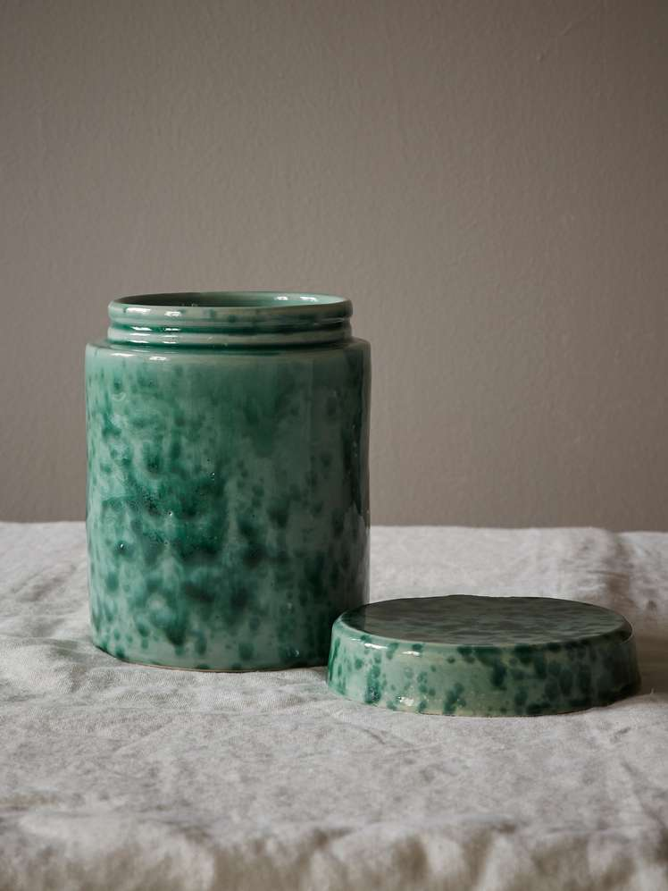 Spruzzi Vivente - Jar with Lid - Green
