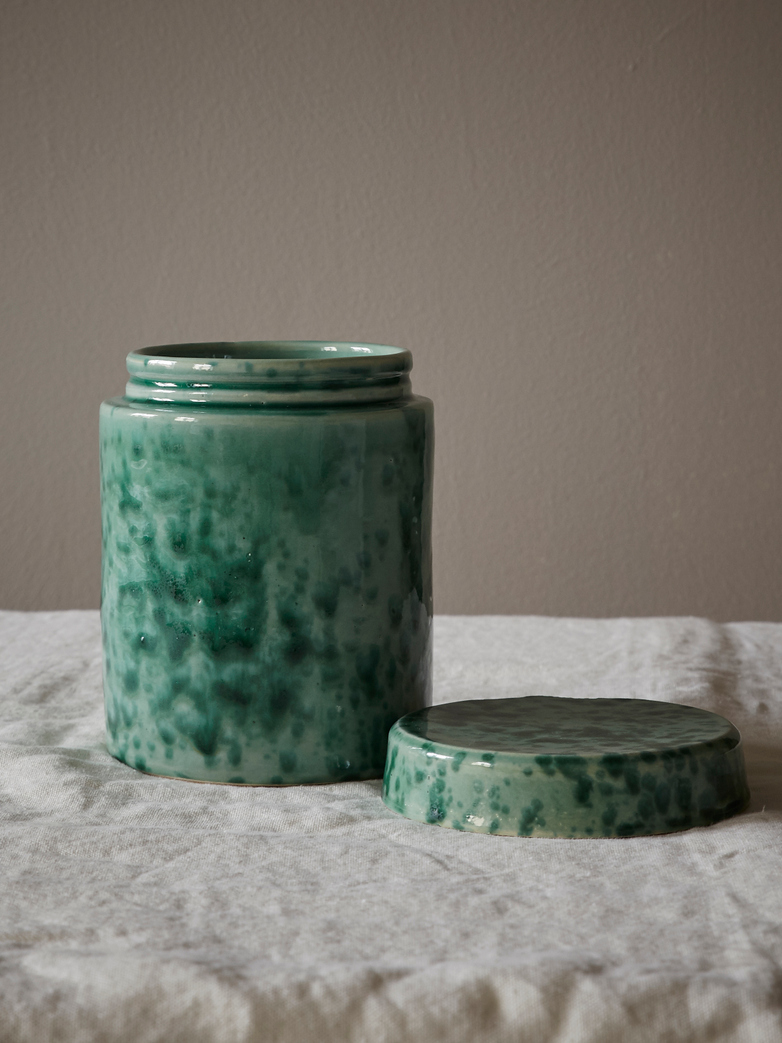 Spruzzi Vivente - Jar with Lid - Green