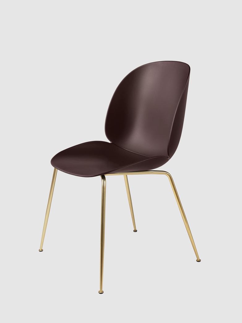 Beetle Dining Chair Un-upholstered - Brass Legs