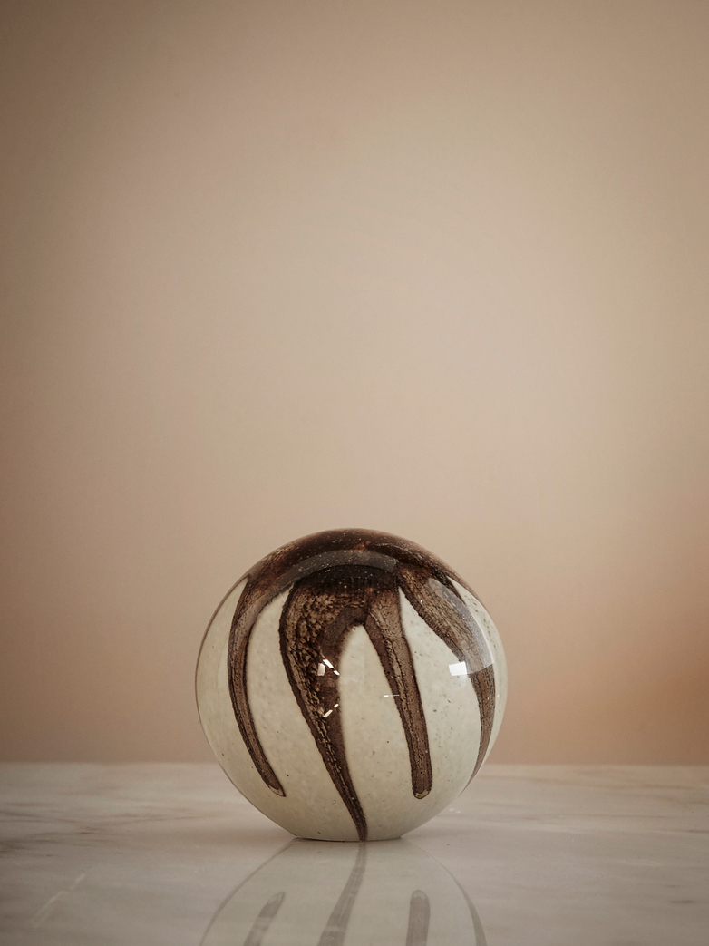 Paperweight Janat - Brown - White