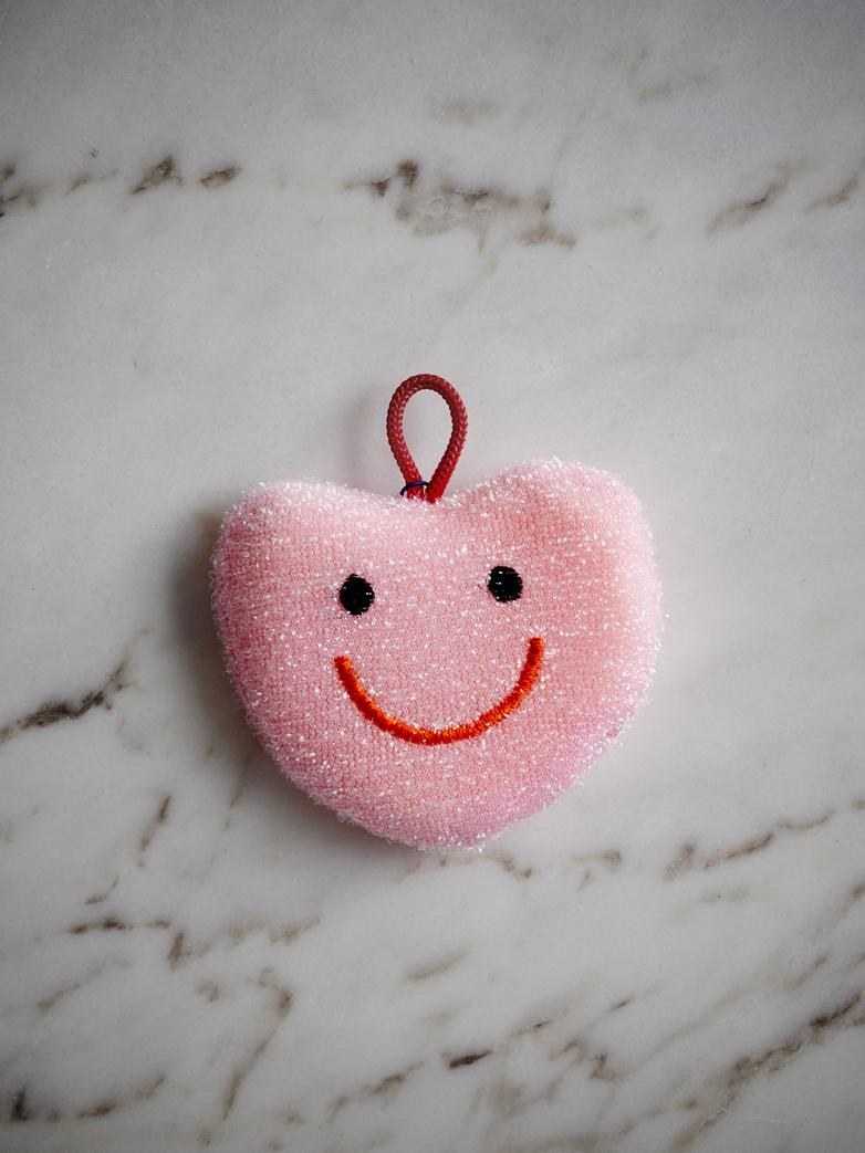 Heart Sponge Pink