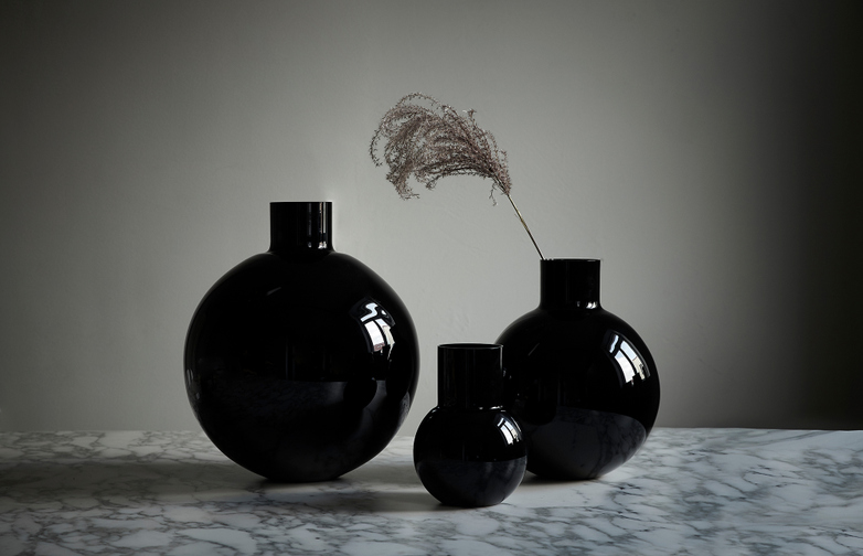 Pallo Vase - Large - Black