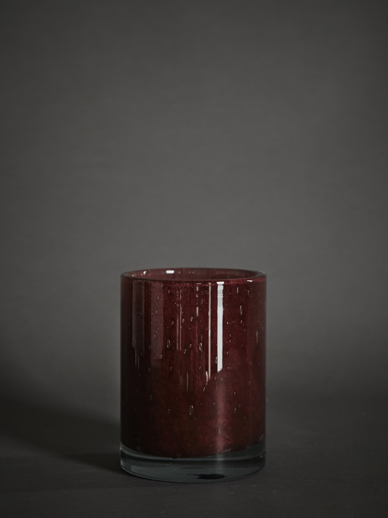 Belle Candle Holder – Claret Red – Medium