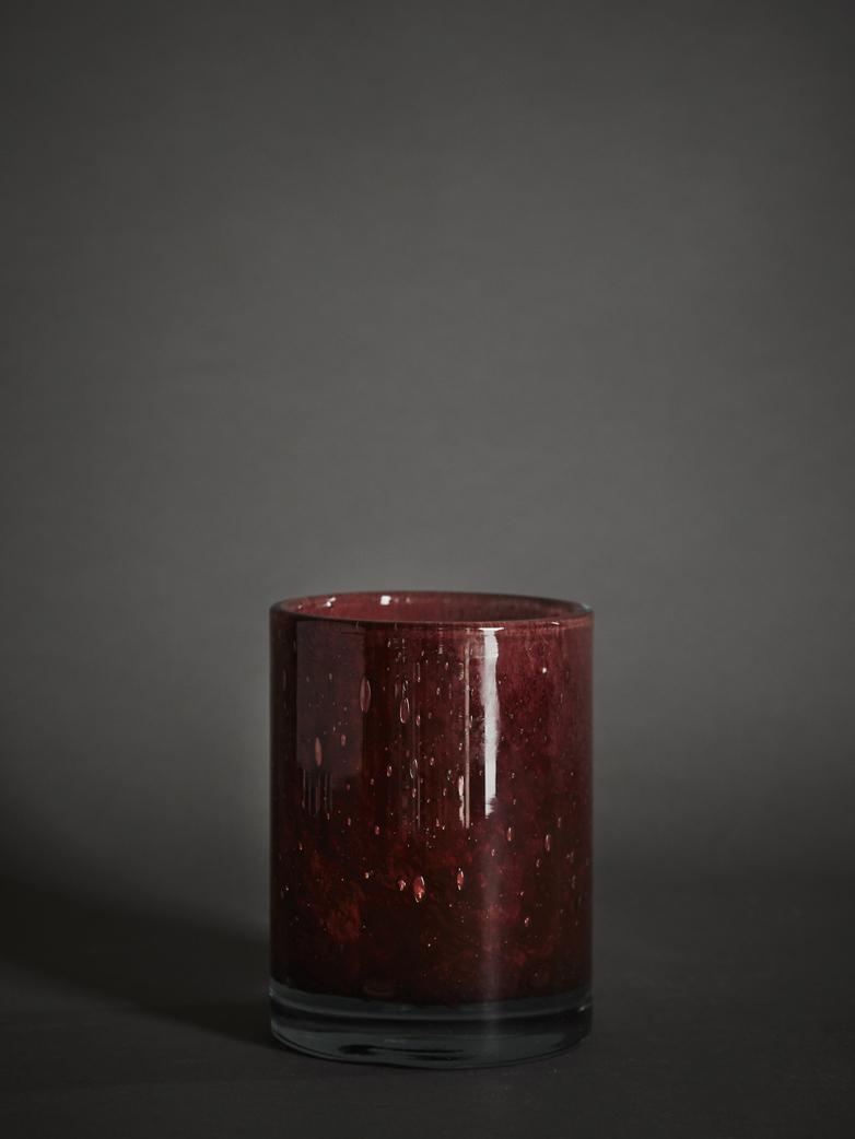 Belle Candle Holder – Claret Red – Medium