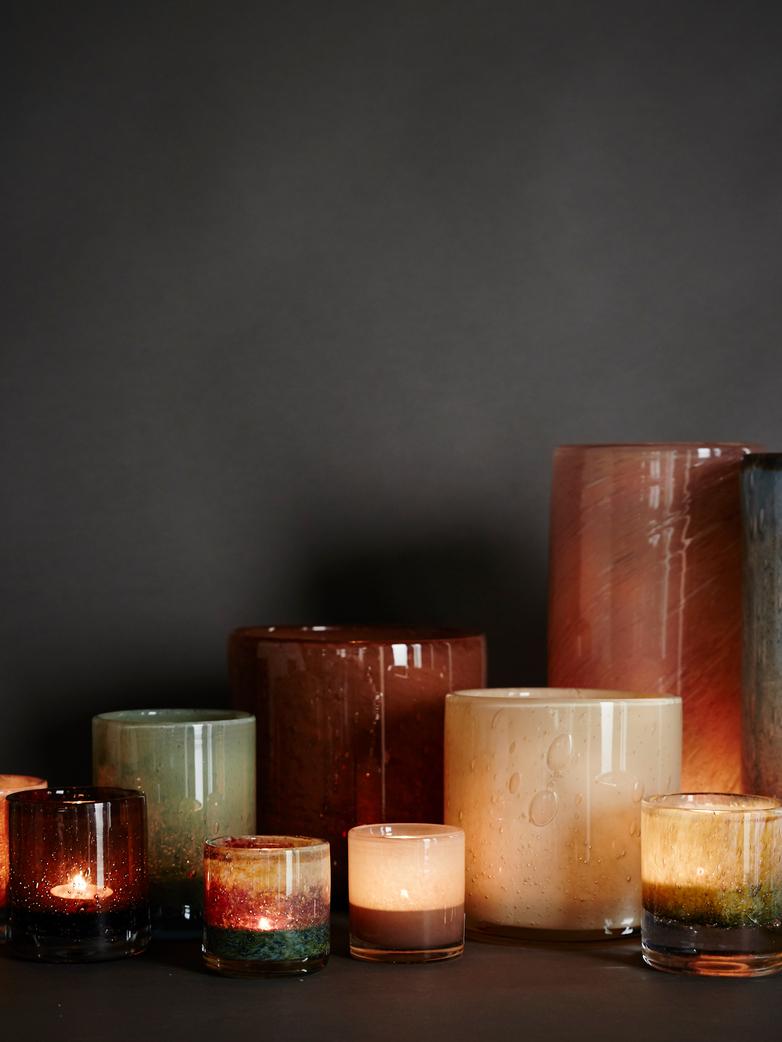 Belle Candle Holder – Claret Red – XL