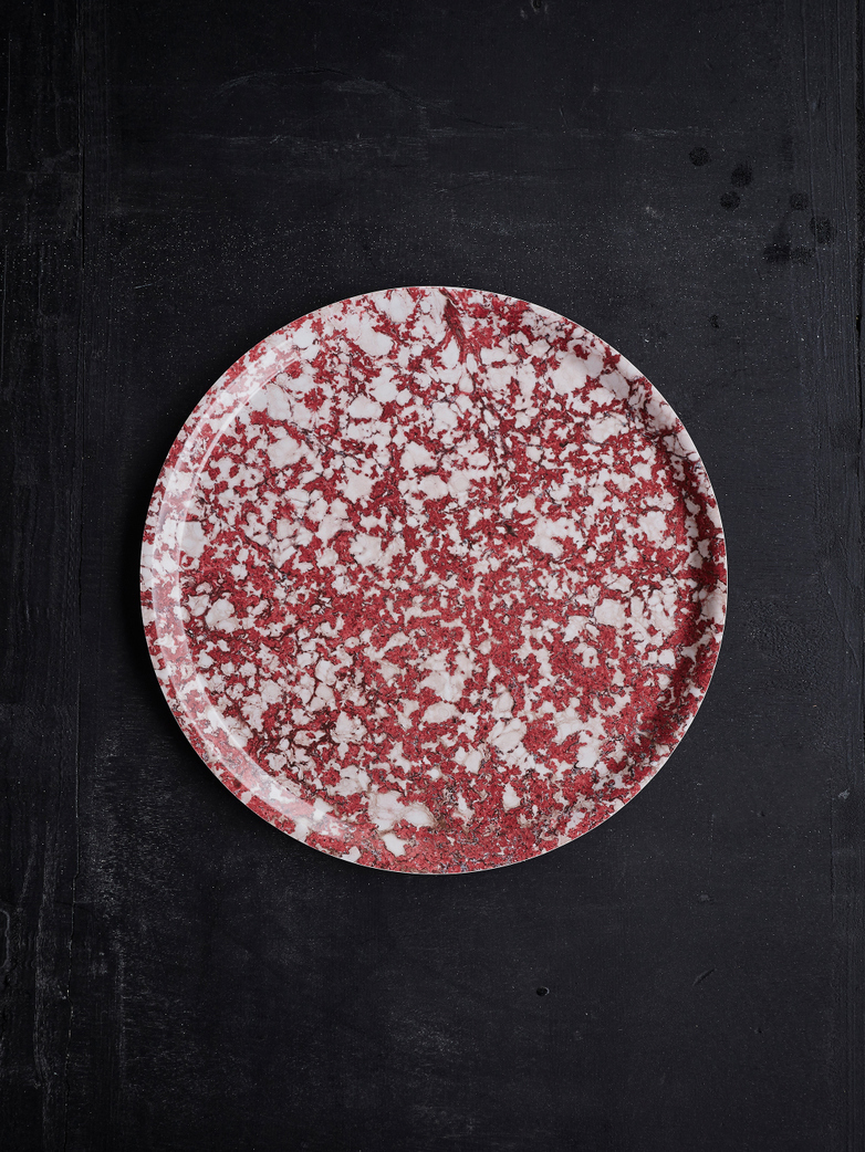 Ruby Galaxy Round Tray