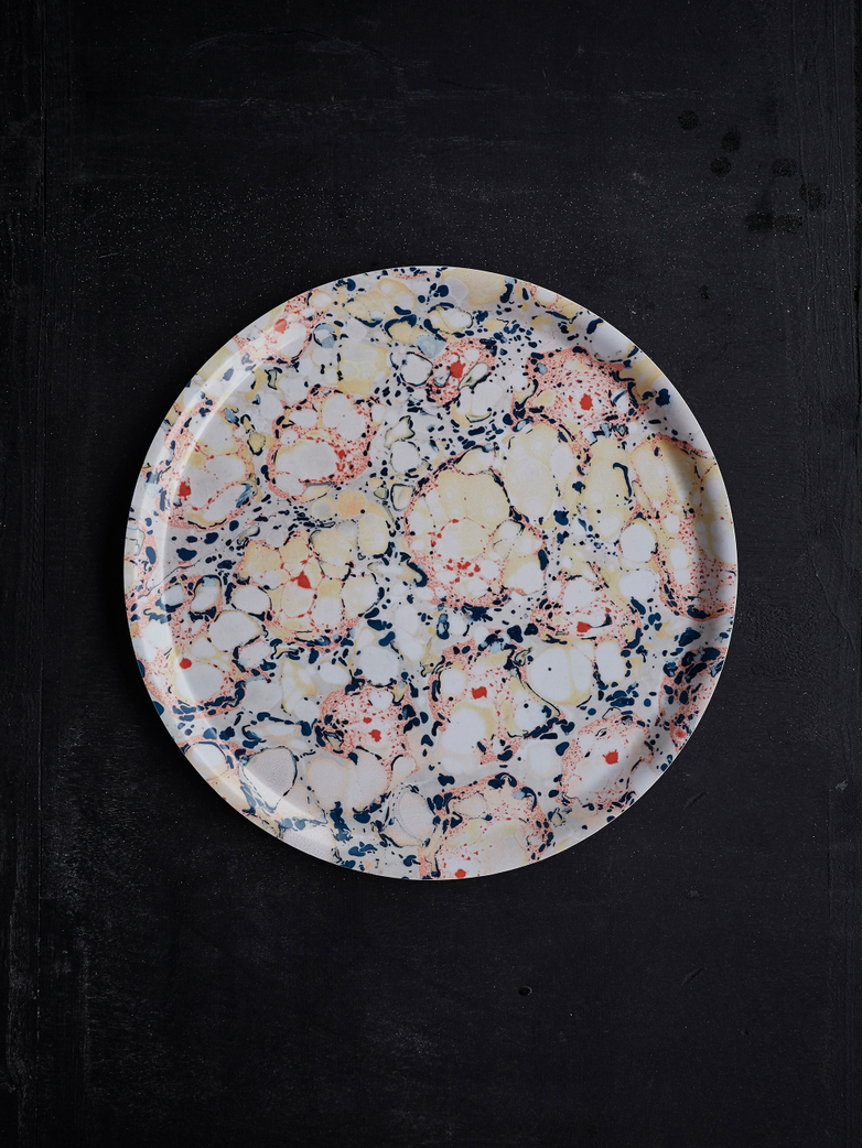 Floating Florals Round Tray