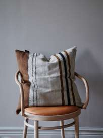 Foundry Pillow - Beeswax Stripe