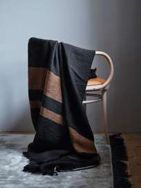 Oscar Throw - Black stripe