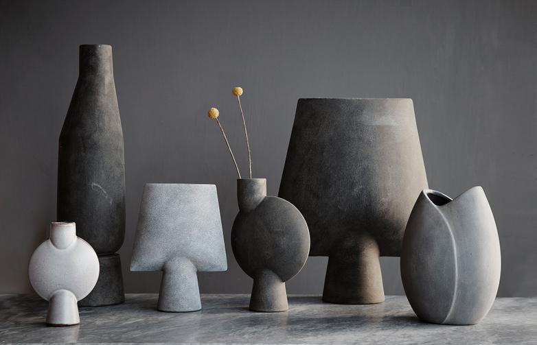 Sphere Vase Wide Small - Light Grey