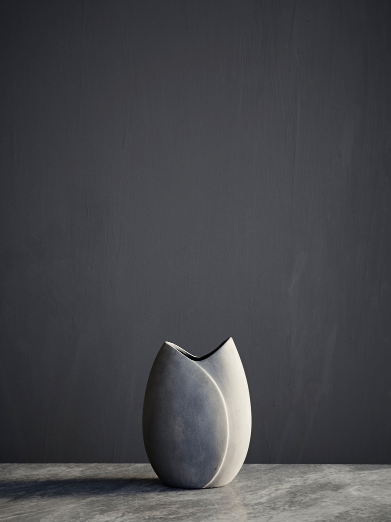Sphere Vase Tulip - Light Grey