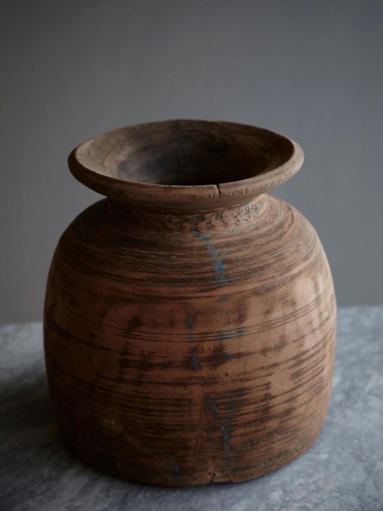 Vintage Wooden Bowl - Large