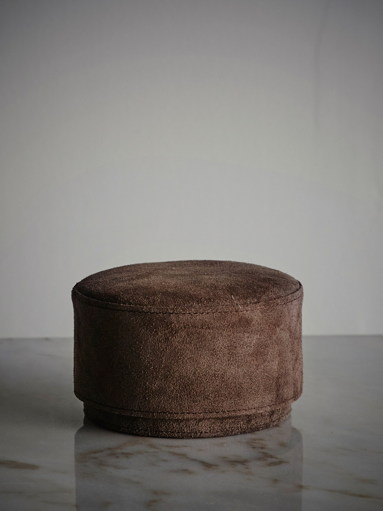 Suede Storage Box - Brown