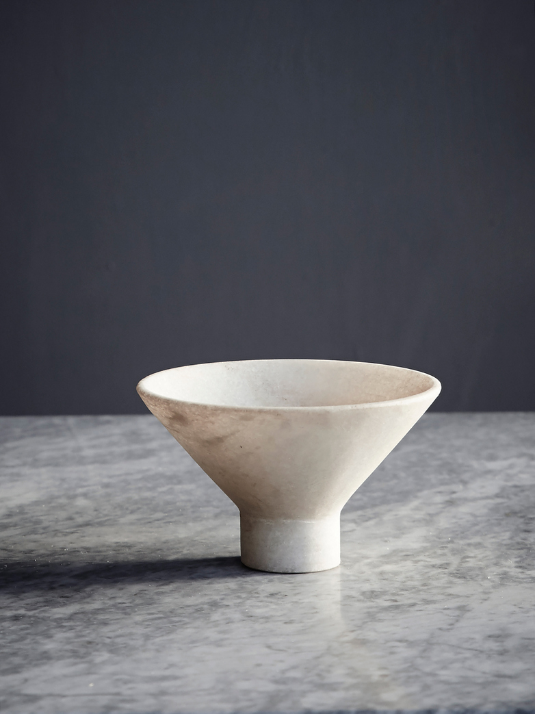 Nature Marble Japanese Bowl - Light Brown