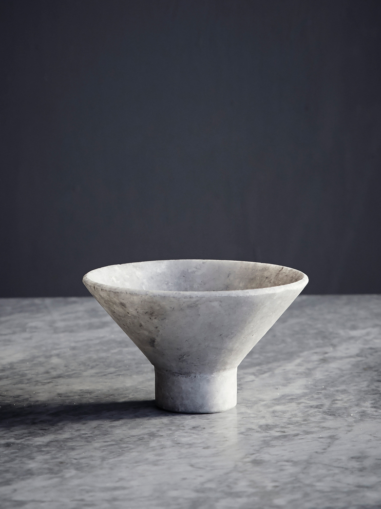 Nature Marble Japanese Bowl - Grey
