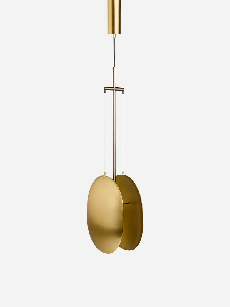 Clam Lamp – Brass
