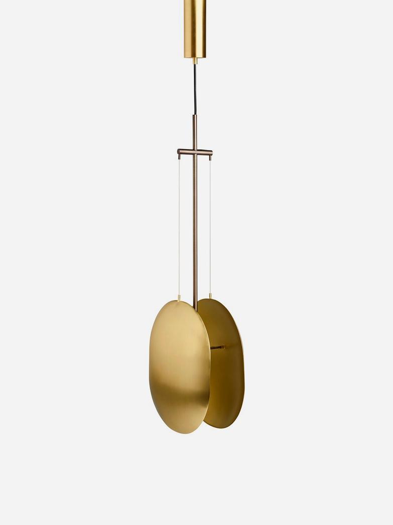 Clam Lamp – Brass