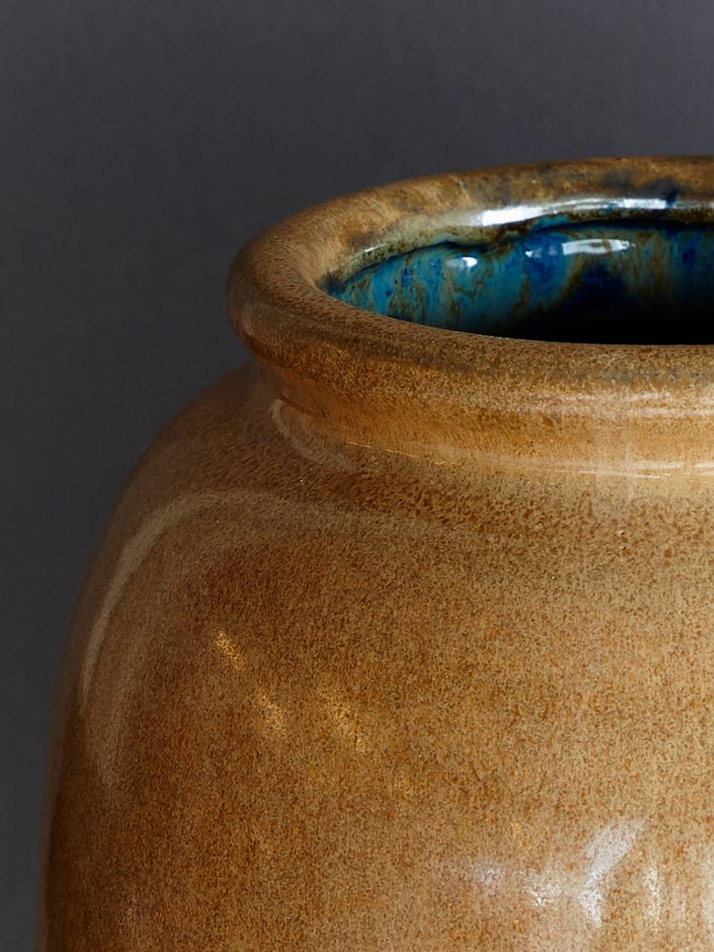 Vase Cph Rim Dull Gold
