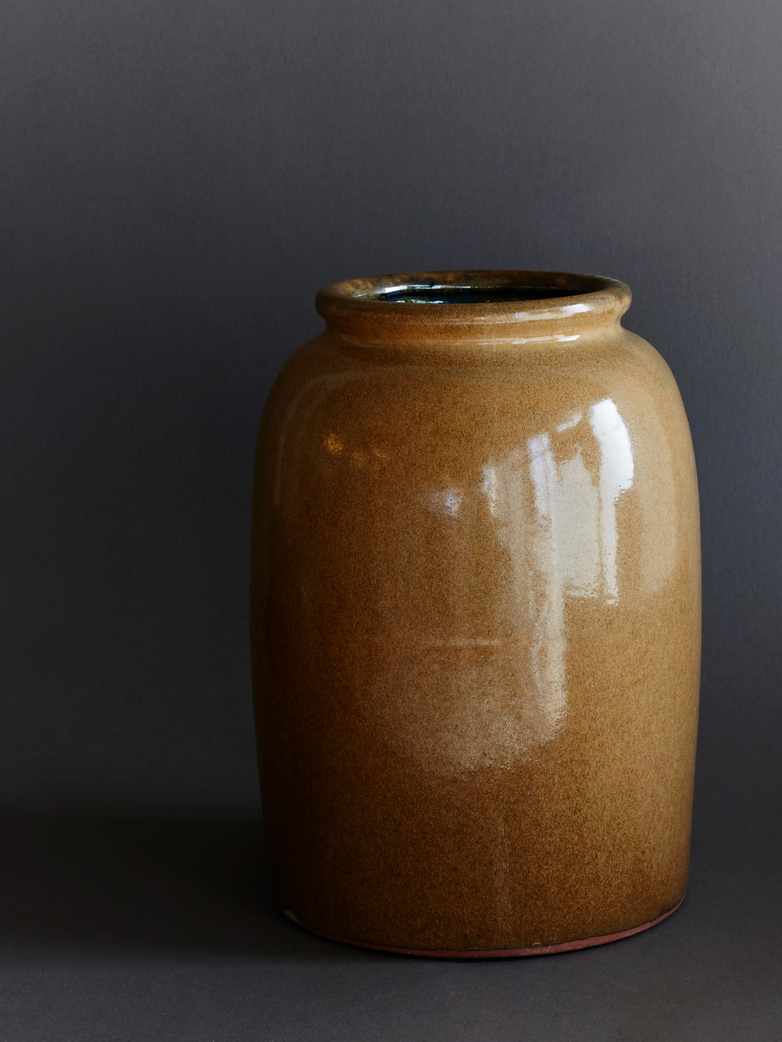 Vase Cph Curve Dull Gold