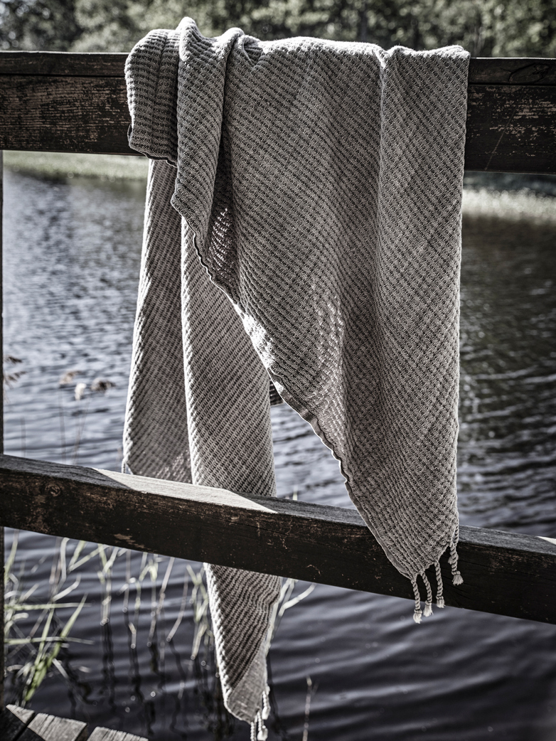 Hamam & Beach Towel Rail - Dark Grey