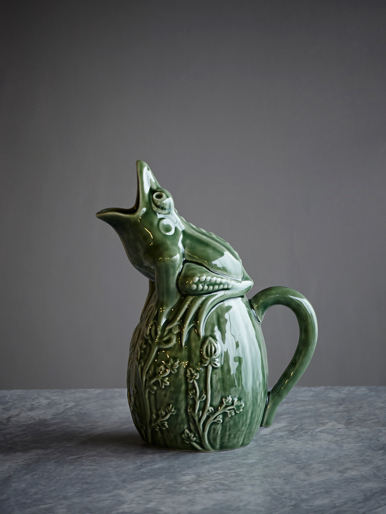 Pitcher Frog Green Espigas
