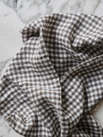 Basic Dish Towel - Vichy Marron