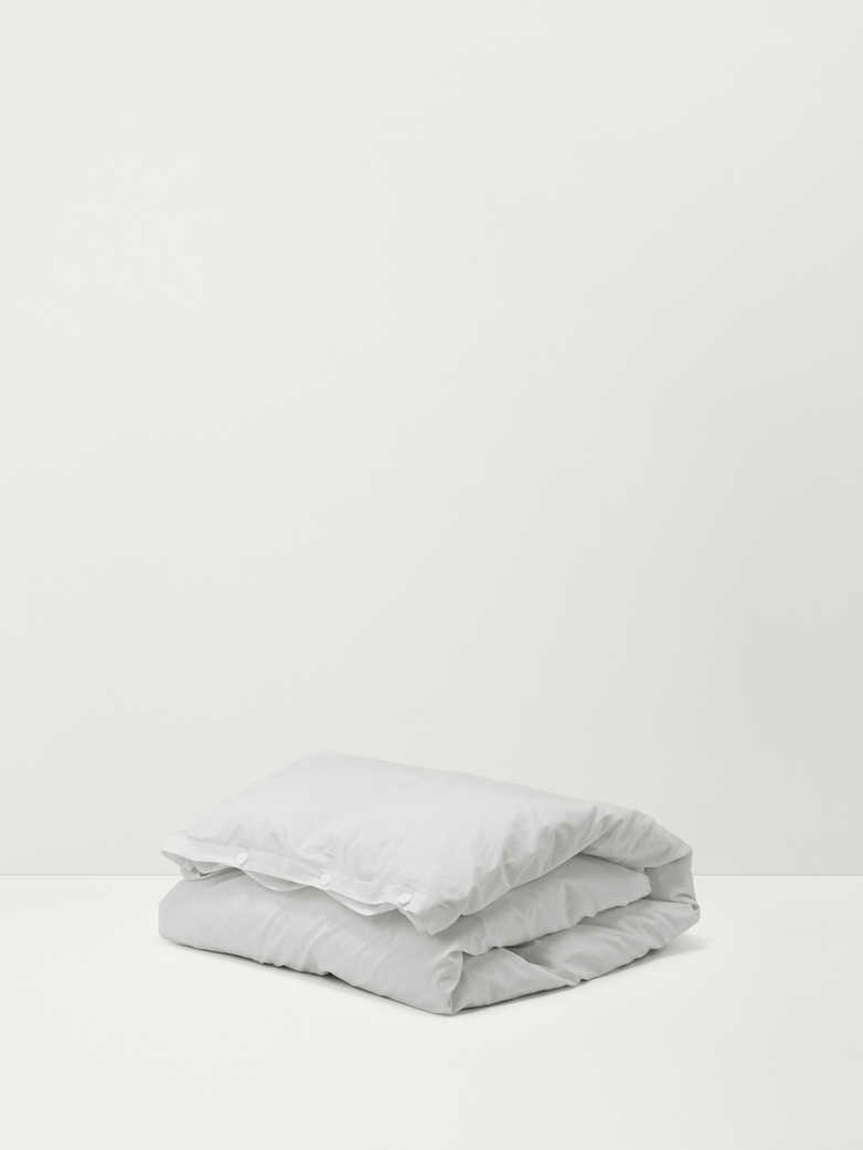 Stone Washed Duvet Cover Cotton Percale Soft Grey 150x210