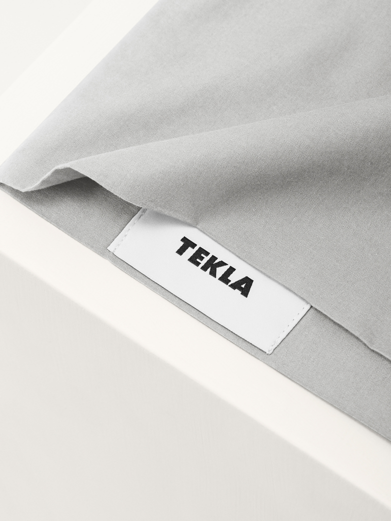 Stone Washed Pillow Sham Cotton Percale Soft Grey 50x60