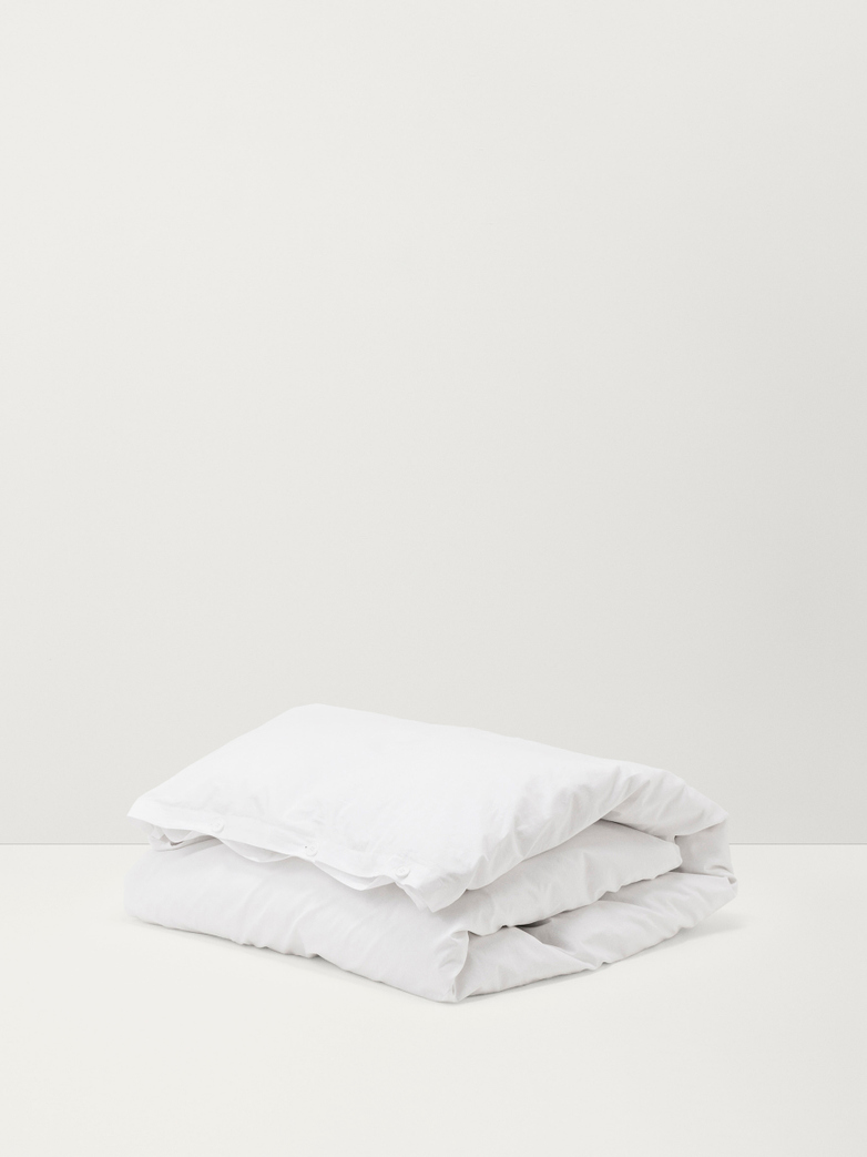 Stone Washed Flat Sheet Cotton Percale Borken White 260x260