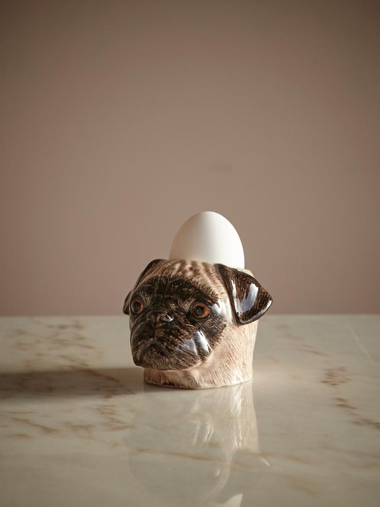 Fawn Pug Face Egg Cup