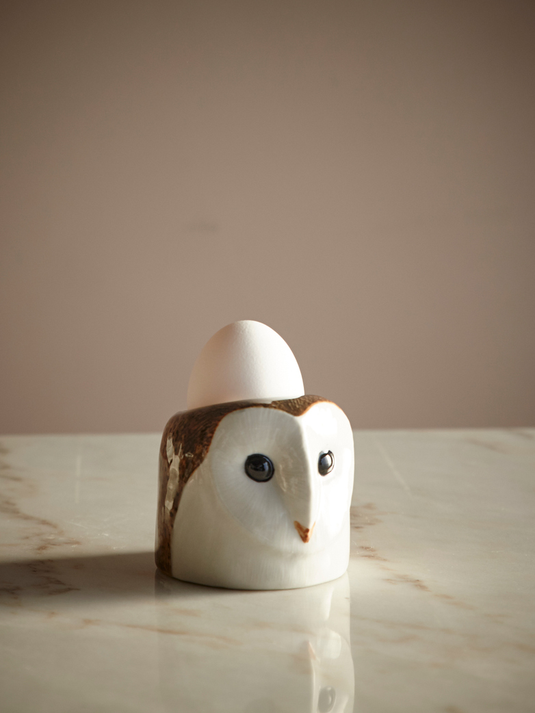 Barn Owl Face Egg Cup
