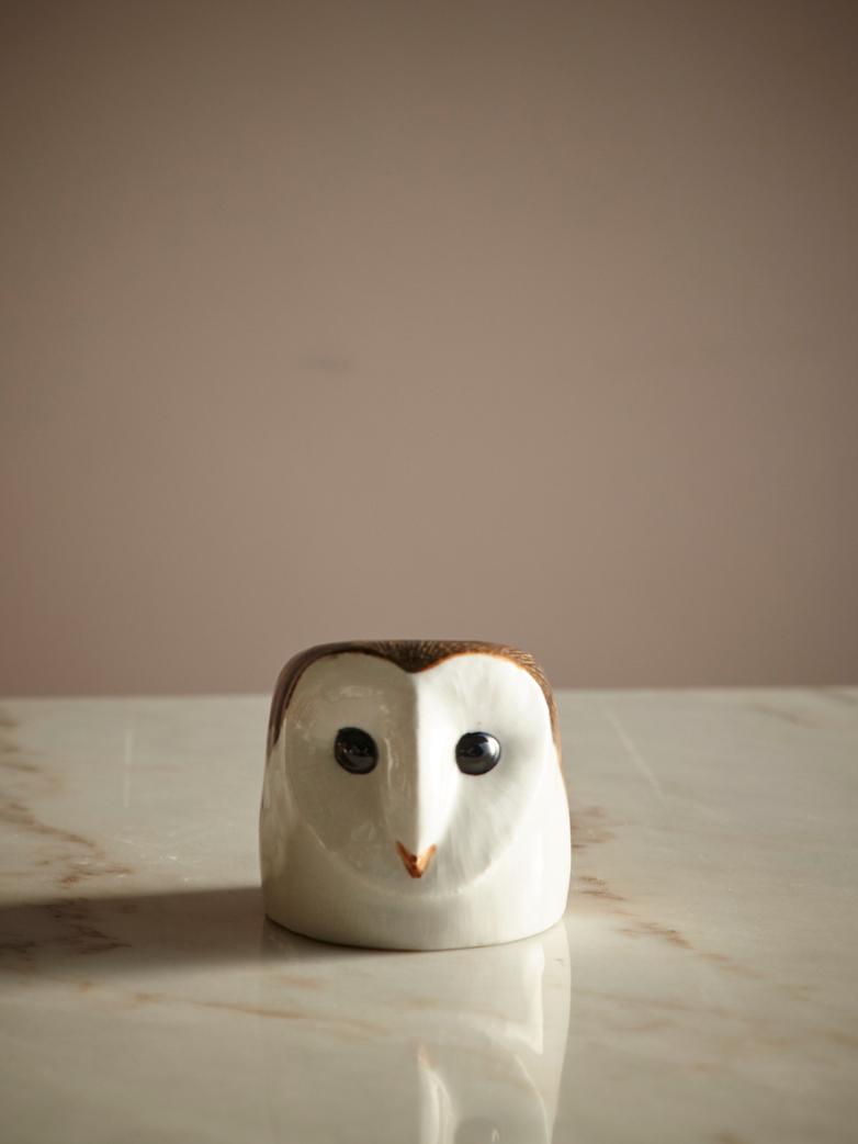 Barn Owl Face Egg Cup