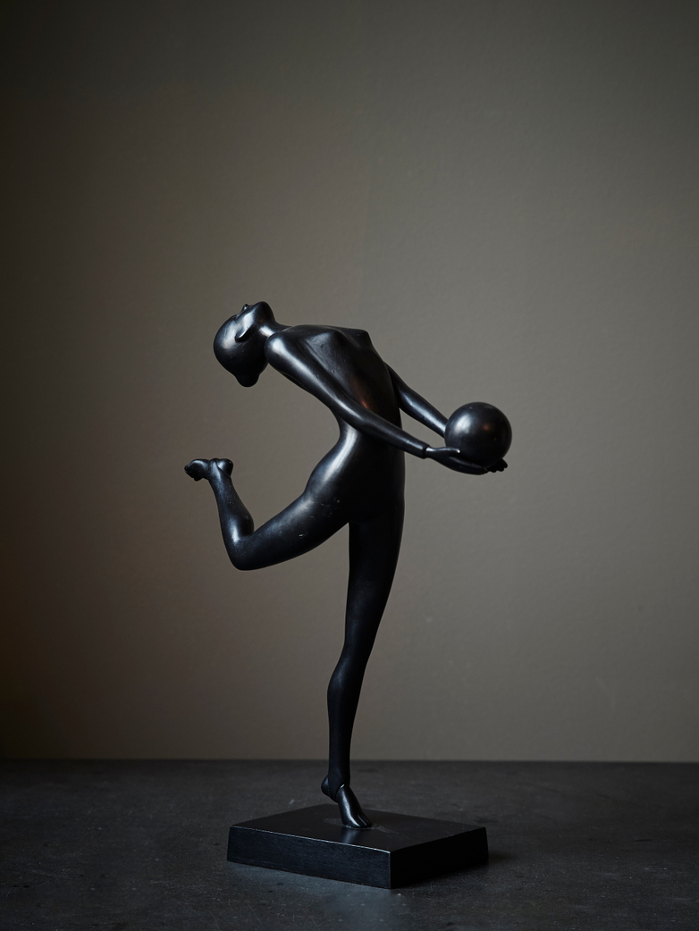 Gymnast With Ball Bronze
