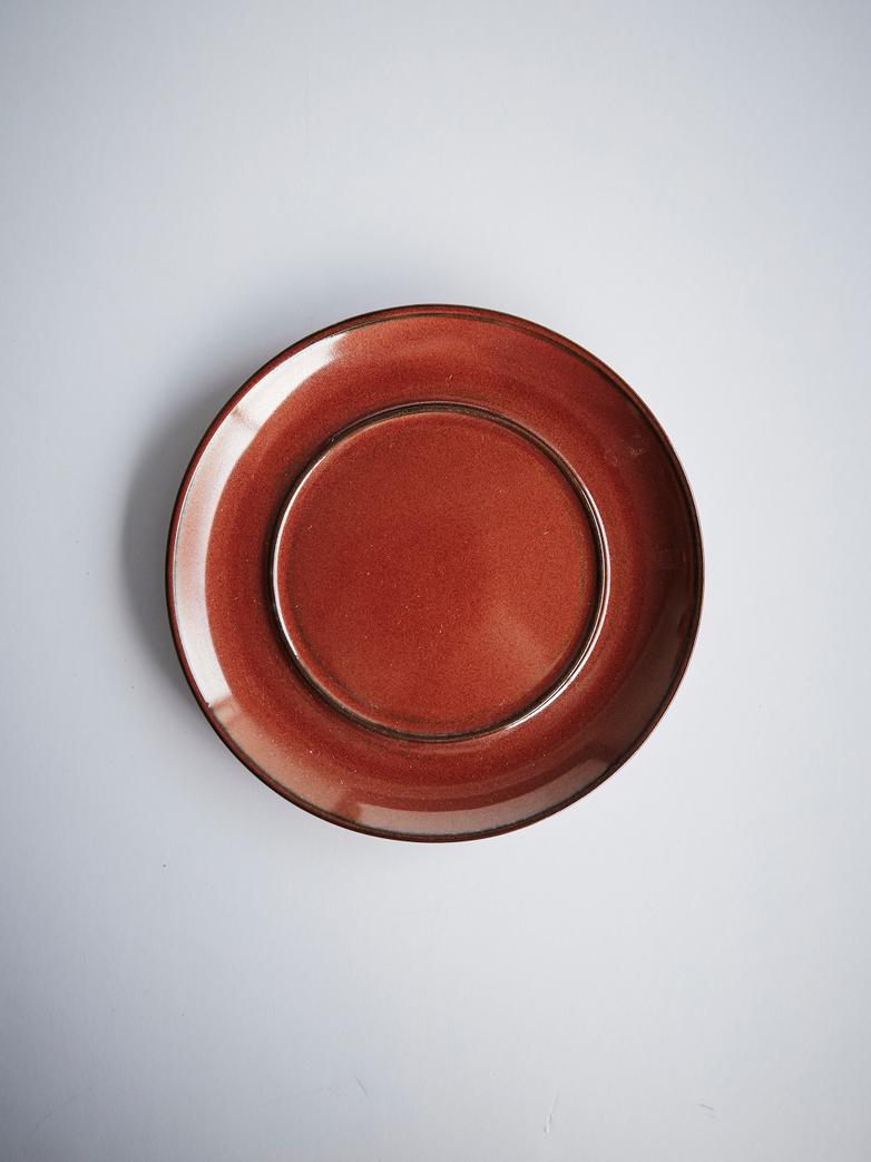 Terres de rêves - Coffee Cup With Saucer Dark Blue - Rust