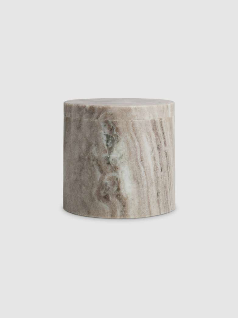 Brown marble canister Large