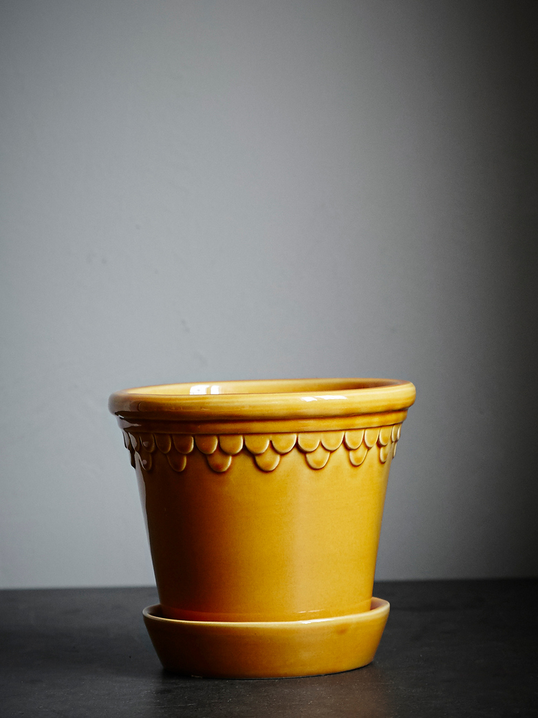 Copenhagen Pot Yellow Amber 16cm