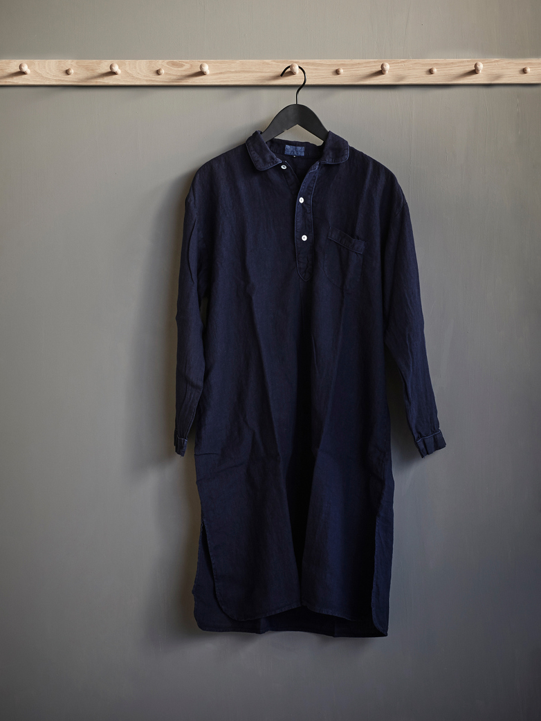 Linen Nightshirt Blue