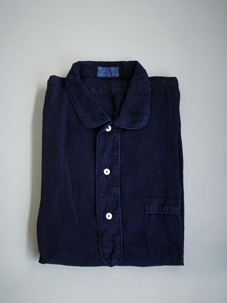 Linen Nightshirt Blue